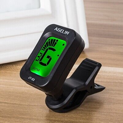 Digital Clip-on Electric Tuner for Guitar Chromatic Bass Violin Universal Tuner