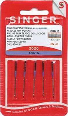 SINGER 2020 HOME SEWING MACHINE NEEDLES SIZE #16/100 15X1 HAX1 130/705H~5 Pack