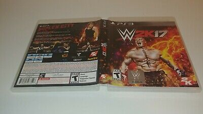 WWE 2K17 (Sony PlayStation 3, 2016) PS3 Complete TESTED