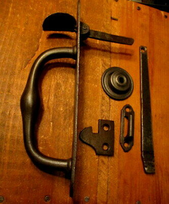 Large Vintage Iron Barn Door Thumb Latch Handle Hardware