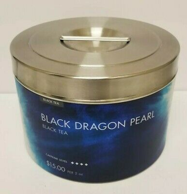 Teavana Black Dragon Pearl Stainless Steel Store Display 3 lb. Tea Tin (Empty)