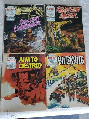 12 Battle Picture Library comics early 1970's. Free postage