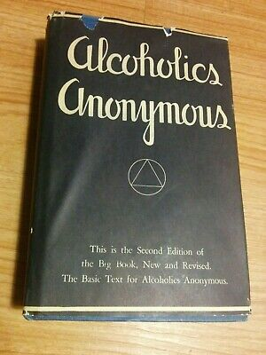 2ND EDITION - ALCOHOLICS ANONYMOUS - RARE 12TH PRINTING 1971 - Hardcover ODJ