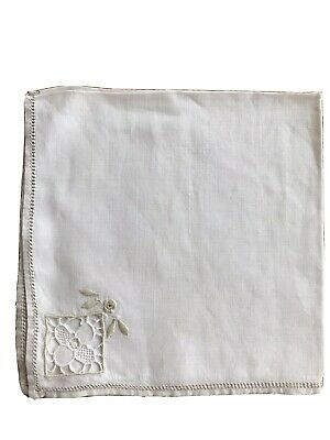 Set Of 10 Vintage Embroidered Napkins