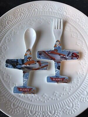 2 Piece Disney Planes Novelty childrens Cutlery Set
