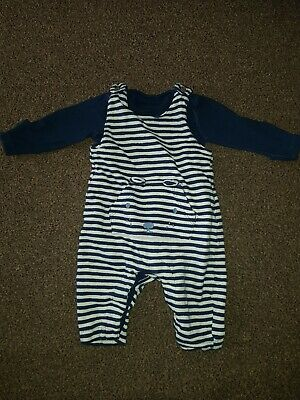 Baby Boys Marks And Spencer M&S Dungaree Outfit  0-3months