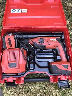 Hilti Te2-a22 22v Sds Hammer Drill Two 5.2ah Battery's Charger