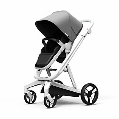 Milkbe Adjustable Baby Stroller with Auto Braking Safety Feature 2018 (Gray)