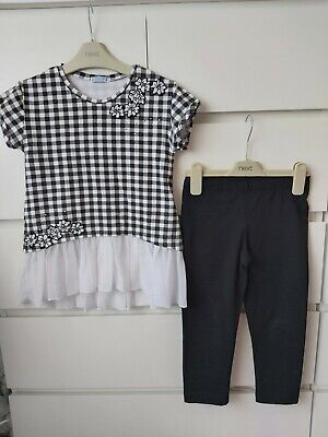 Mayoral Girls Top And Leggings Set Age 8