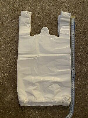 Approx 90 White Carrier Bags 45cm x 30cm