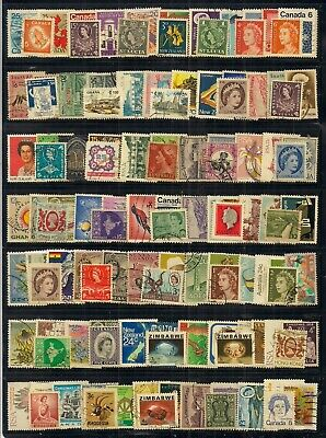 Commonwealth- Super Selection Of 225 Fine Used Stamps.looks All Different.