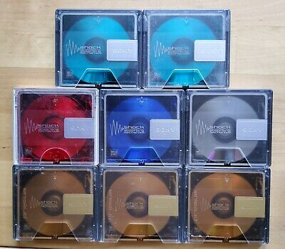 8 X SONY MD74 Colourful Recordable - Prerecorded Minidiscs