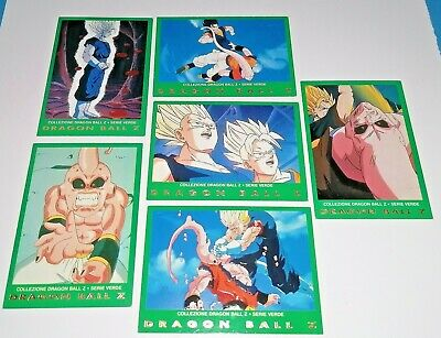 Lotto Card Dragon Ball Z Serie Verde Goku Vegeta Majin Bu
