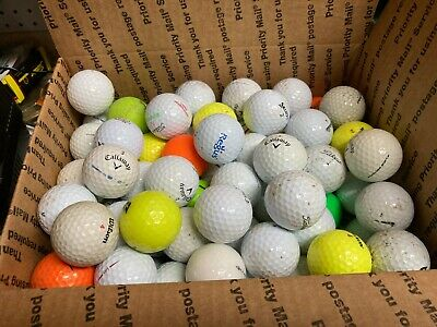 100 Used golf balls, assorted brands in good shape