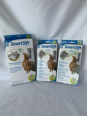 Catit SmartSift Biodegradable Replacement Liners-18 Pull-Out Bin,12 Cat Pan Base