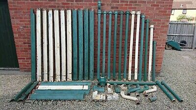 Cast Iron guttering ogee pattern + round down pipe and range of fittings, used.
