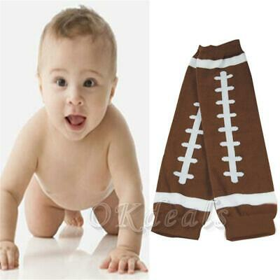 Cute Brown Football Fashion Cotton Toddler Socks Leggings Baby Arm Leg Warmers
