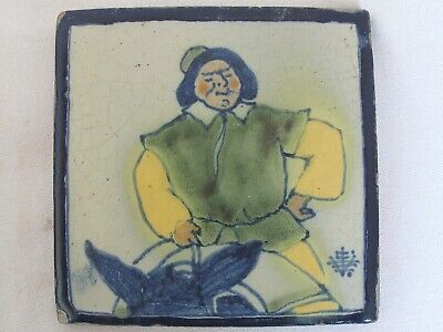 "Vintage Uriarte Mexican Tile  ""Sancho Panza"" on a Burro 1930's"