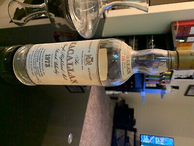 Macallan 1973 18 Empty Battle, Very Rare Vintage Colector Item, Very Hard To Get