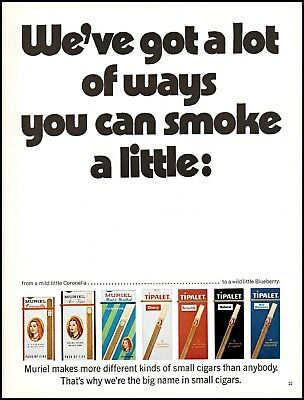 1970 Muriel cigars coronella flavored tripalet vintage photo Print Ad ads20