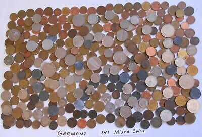 World Coin Lot:  341 Foreign Coins from Germany