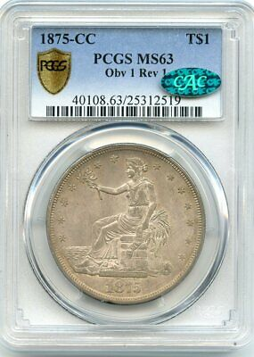 C12746- 1875-Cc Trade Dollar Pcgs Ms63 Cac