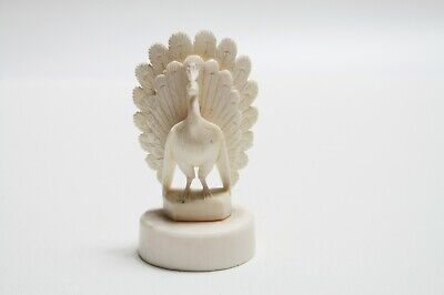 Antique Chinese Carved Bovine/Bakelite Peacock Height - 8cm