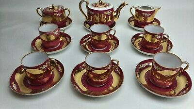 Antique Russian Kuznetsov (Gardner) Porcelain Tea Set