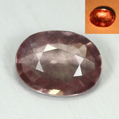 0.975 Ct Rare Natural From Earth Mined *Color Change Malaya Garnet* Aaa+ Gem~!!!