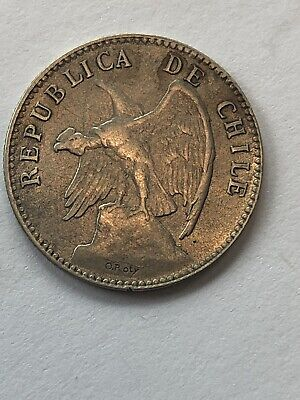 Chile 20 Centavos 1907 S Type II