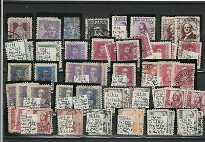 Spain 1937-1948 Stamps Ref 23312
