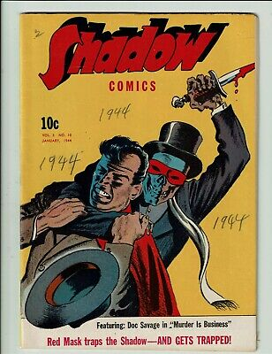 Shadow Comics 34 Street & Smith 1944 Classic Golden Age Rare To Auction