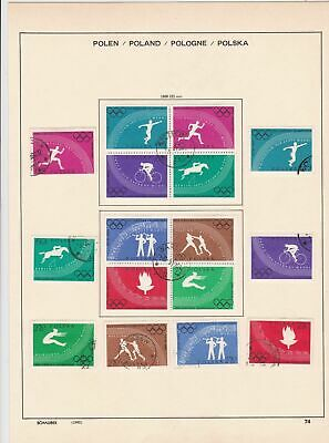 poland 1960  olympics stamps page ref 17276