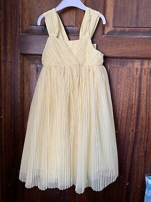 Girls Yellow Party Summer Dress H&M Pretty Aged 2-3 Years