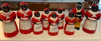 1950s Mammy & Uncle Mose Black Americana Salt Pepper, Spices, Creamers F&F Mold