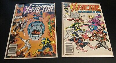 Lot of *2* Key X-FACTOR: #5, #6 (VF/VF+) or (VF+) **Bright, Glossy & Colorful!**