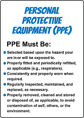 PPE (PERSONAL PROTECTIVE EQUIPMENT) GUIDELINES | Adhesive Vinyl Sign Decal