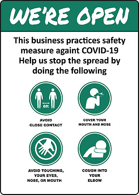 CD-19 BUSINESS SAFETY INFORMATION SHEET | Adhesive Vinyl Sign Decal
