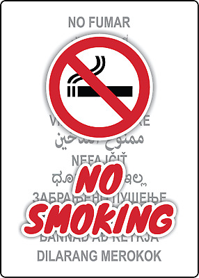 NO SMOKING/NO FUMAR | Adhesive Vinyl Sign Decal
