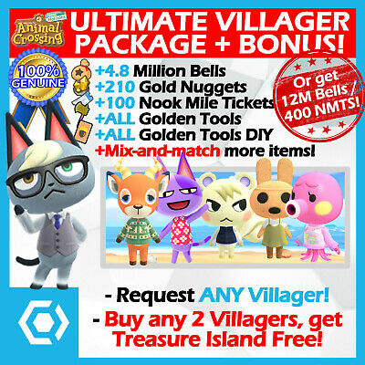 👓 ALL VILLAGERS/RAYMOND +FREE BONUS ITEMS Animal Crossing New Horizons ACNH
