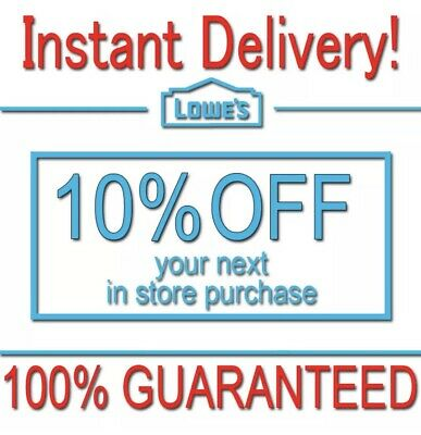 1x Lowes 10% OFF Discount Fastest DELIVERY-COUPON1 INSTORE ONLY EXP 𝟔/30