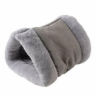 2 in 1 Pet Tunnel Bed Mattress Mat Cat Dog Portable Warm Thermal Self Heating