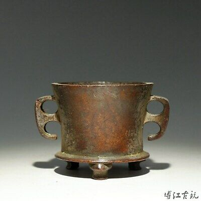 Collect China Old Red Copper Hand-Carved Delicate Unique Noble Incense Burner