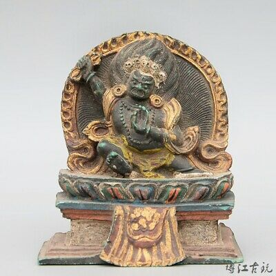 Collect Precious Nepal Old Resin Hand-Carved Exorcism Bring Luck Buddhism Statue