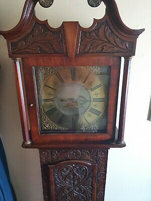 Georgian Carved Grandfather Clock