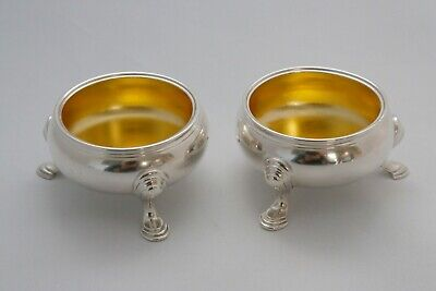 Pair George II Salts by David Hennell I Lon. 1738