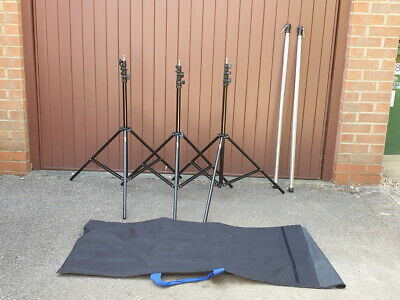 Lastolite Studio 6m Background Support System - 3x Stands - 2x Telescopic Poles