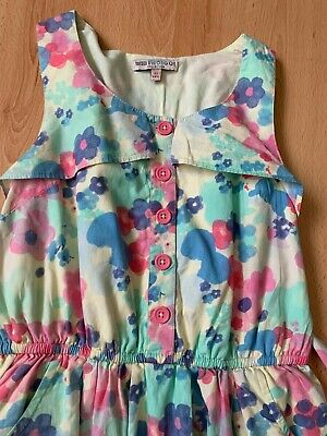 Girls Indigo by marks & spencer m&s floral sleeveless dress   age 10-11 years