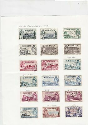 gibraltar stamps page  ref 18883