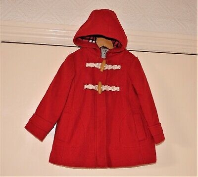 Girl's Red Hooded Coat / Jacket by Next size 2-3 yrs